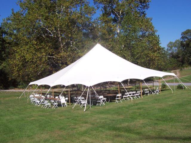 Where to find TENT, 40  X 40   WHITE  POLE TENT in Kingsport