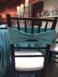 Rental store for SPANDEX  CHAIR BAND   TIFFANY  AQUA in Kingsport TN