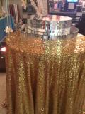 Where to rent LINEN,   GOLD SEQUINS  120 RD. in Kingsport TN
