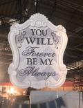 Rental store for WOODEN WEDDING SIGN  FOREVER in Kingsport TN