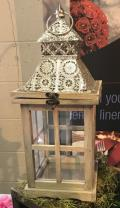 Rental store for LANTERN,  WOOD   SILVER SCROLL  16 in Kingsport TN