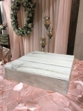 Rental store for CAKE STAND  WHITE-WASH  16  SQ. WOOD in Kingsport TN