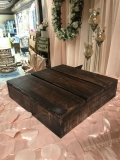 Rental store for CAKE STAND  MAHOGANY  16  SQ. WOODEN in Kingsport TN