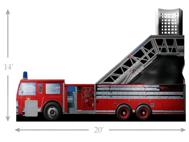 Where to find 14 FT FIRE ENGINE SLIDE  DELIVERY EXTRA in Kingsport