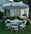 Where to rent WHITE UMBRELLA   TABLE   4 FT in Kingsport TN